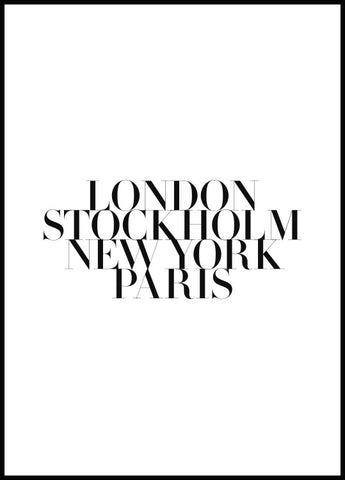 Fashion Capitals Poster