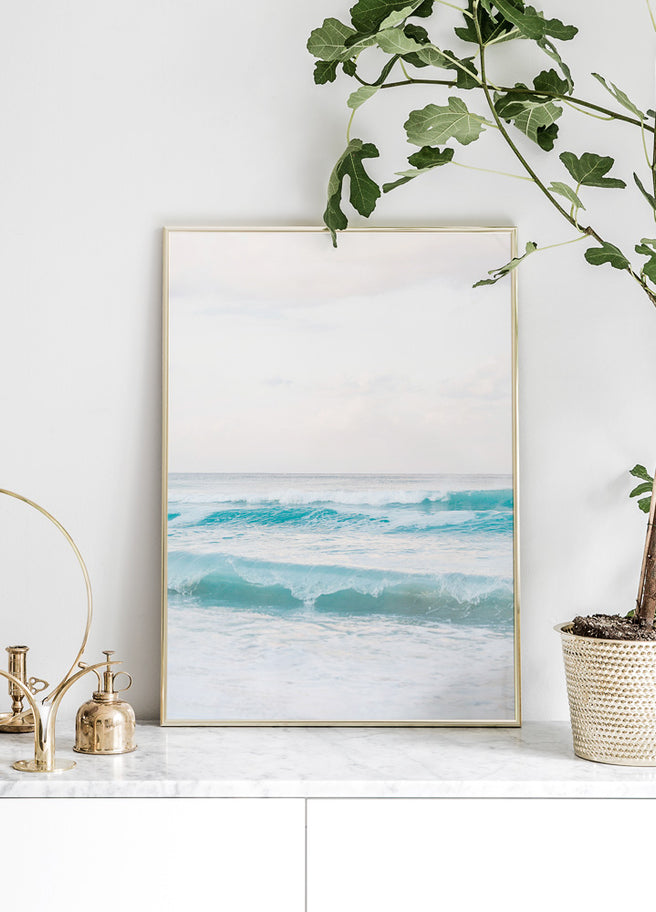 Beach Wave poster tavla