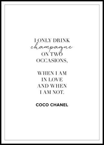 Champagne Coco Chanel Poster