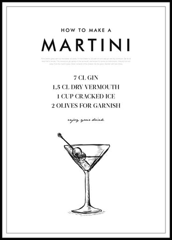 How to make a Martini Poster