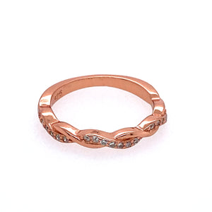 Braided Infinity Rose Gold