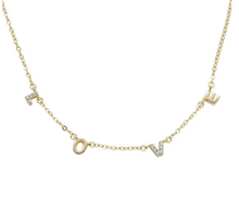 Load image into Gallery viewer, LOVE Necklace - Silver, Rose Gold, Yellow Gold