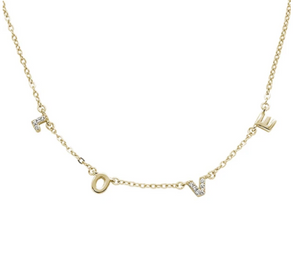 LOVE Necklace - Silver, Rose Gold, Yellow Gold