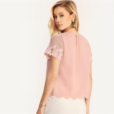 blouse hippie rose