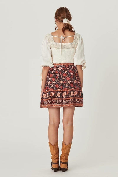 jupe courte style hippie chic