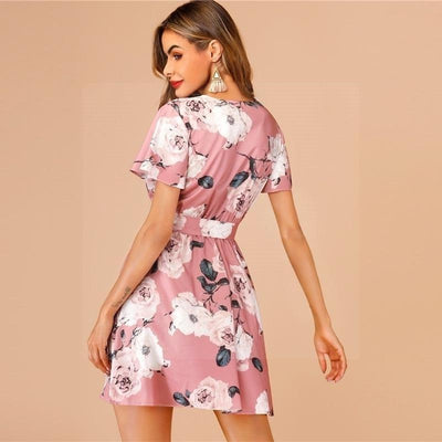 robe hippie rose poudree
