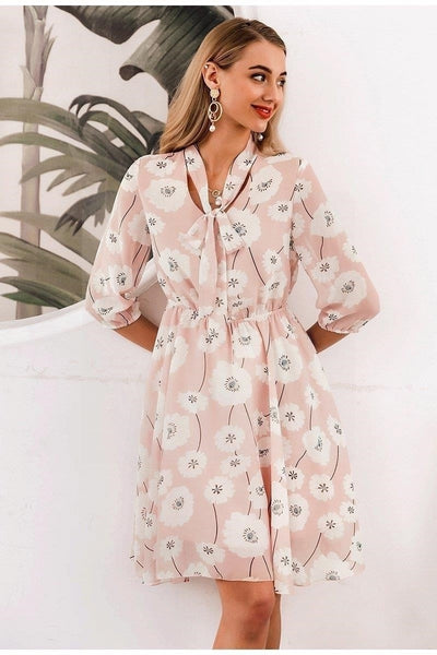 robe hippie chic rose pale