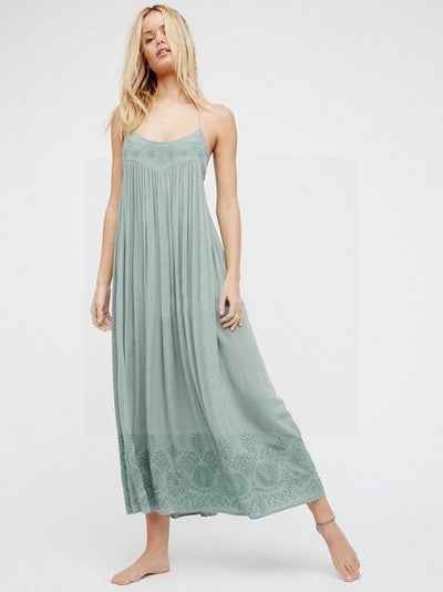 robe hippie chic turquoise