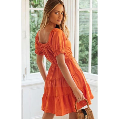 robe hippie orange