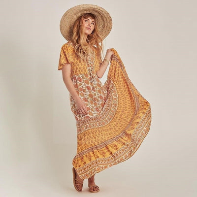 robe longue hippie mousseline