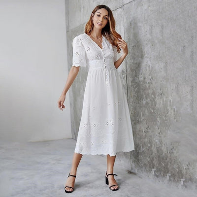 robe longue style hippie blanche