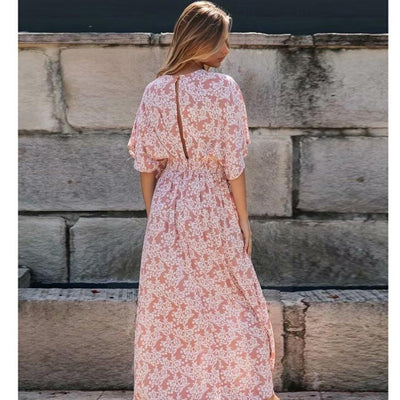 robe longue style hippie chic fleurie