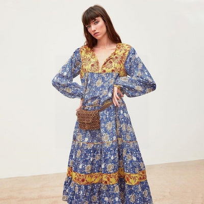 robe longue style hippie chic hiver