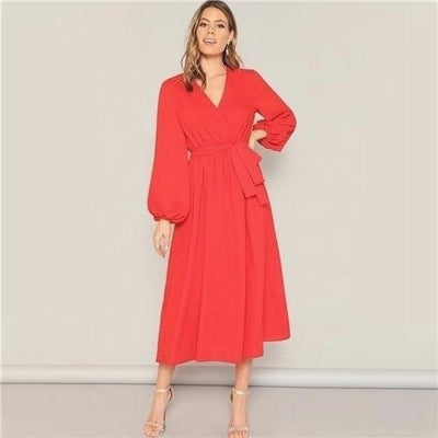 robe longue style hippie orange
