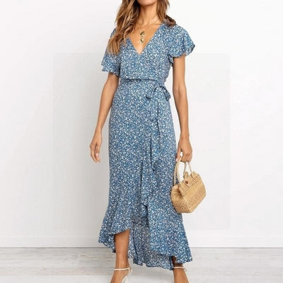 robe style hippie chic fluide