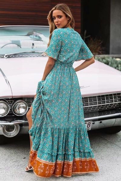 robe longue hippie indienne