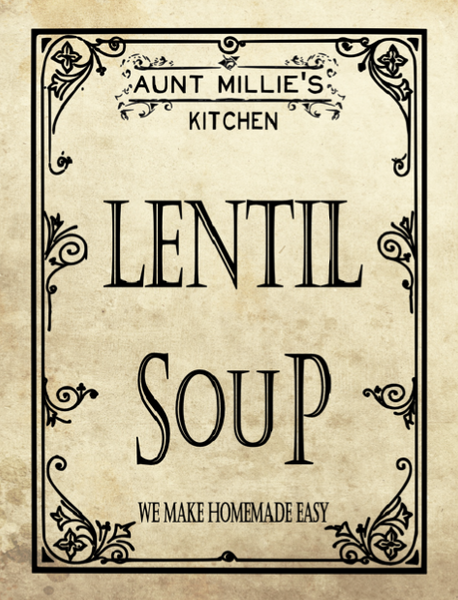 Lentil Soup Mix, 12 cups