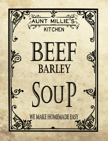 Beef Barley Soup Mix, 12 cups