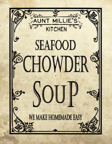 Seafood Chowder Soup Mix, 12 cups