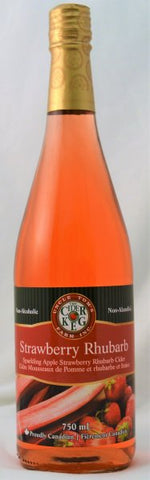 Sparkling Strawberry Rhubarb Apple Cider 750 mL