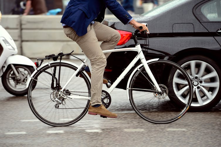 Cycling is by far the healthiest way to get around the city.