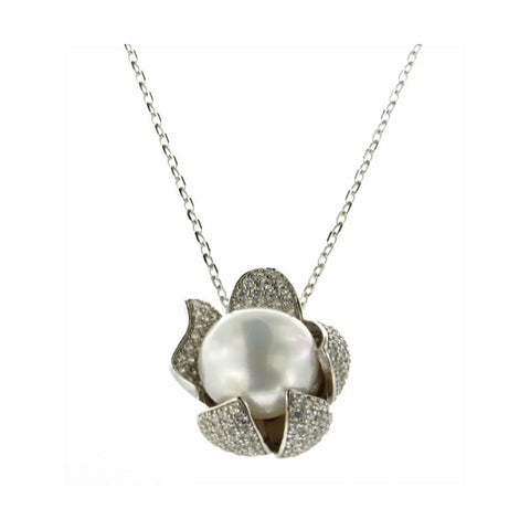 COLLANA CON PENDENTE CICLAMINI EASY CHIC BLOOMINGPEARL | fronte | Salotto Shop