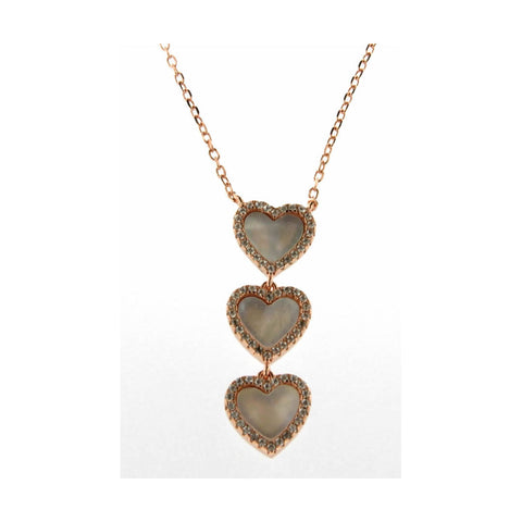 COLLANA CON PENDENTE CICLAMINI EASY CHIC HEART MOP | fronte | Salotto Shop