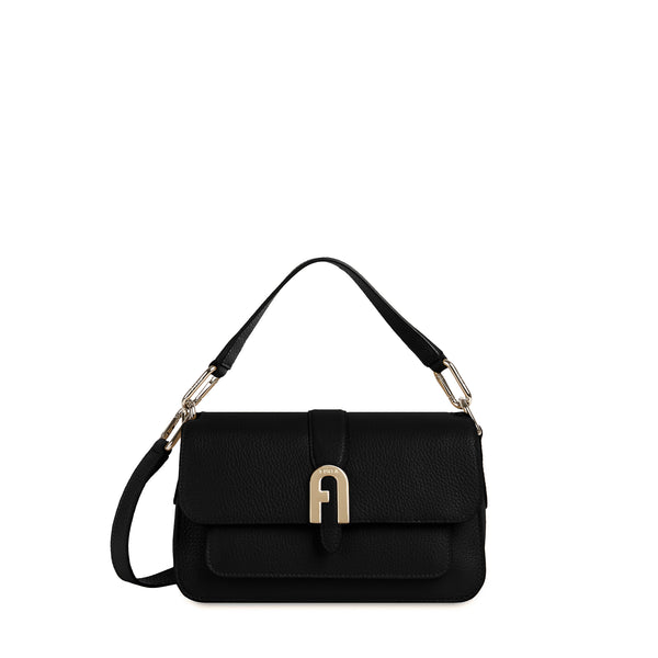 BORSA FURLA SOFIA GRAINY S TOP HANDLE NERO | Fronte | Salotto SHop