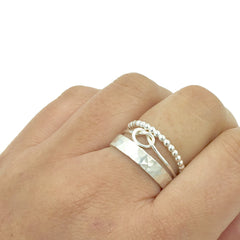 STACK RING SINGLE KNOT SET