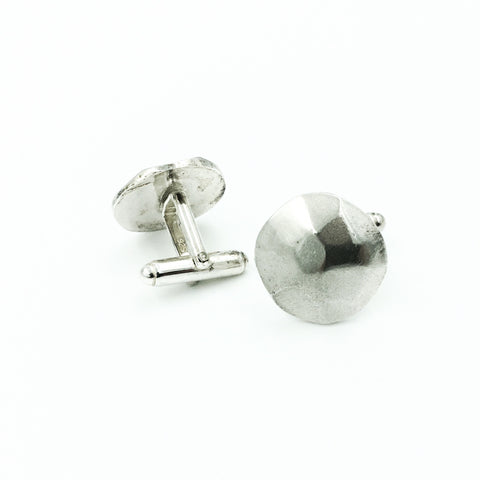 MENS CAST FACETED CUFFLINKS