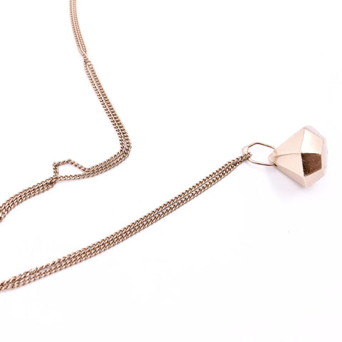 ROSE GOLD FACETED PENDANT