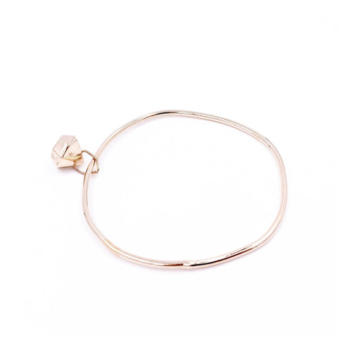 ROSE GOLD FACETED BANGLE