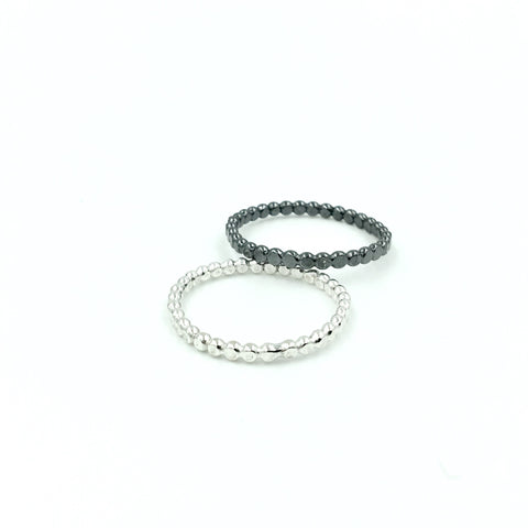 PEARL WIRE FLATTENED RING