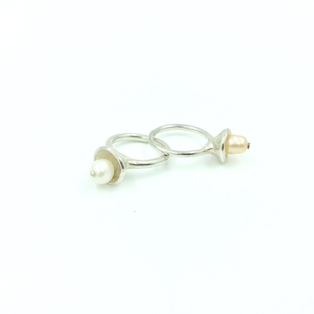 PEARL SOLITARE RING