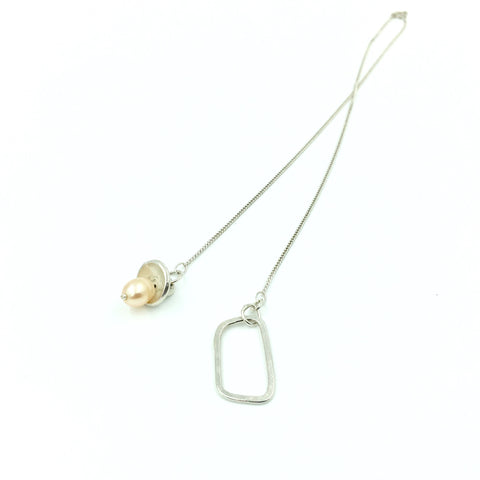 PEARL SOLITARE DROP NECKLACE