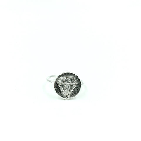 FACETED CHARM RING