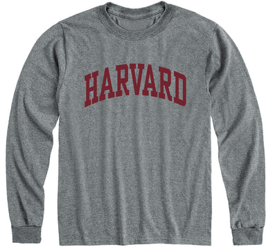 Harvard Long Sleeve T-Shirt Classic (Charcoal Grey)