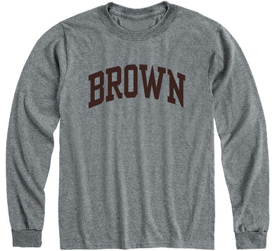 Brown Classic Long Sleeve T-Shirt (Charcoal Grey)