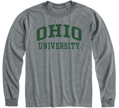 Ohio University Classic Long Sleeve T-Shirt (Charcoal Grey)