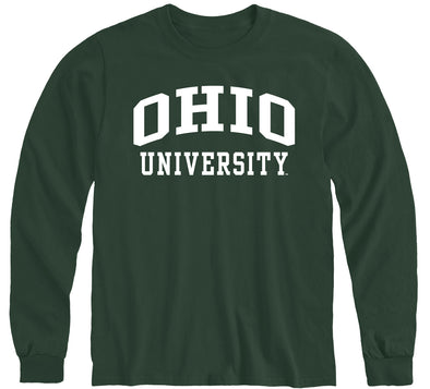 Ohio University Classic Long Sleeve T-Shirt (Hunter Green)