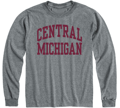 Central Michigan University Classic Long Sleeve T-Shirt (Charcoal Grey)