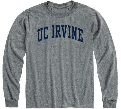 UC Irvine Classic Long Sleeve T-Shirt (Charcoal Grey)