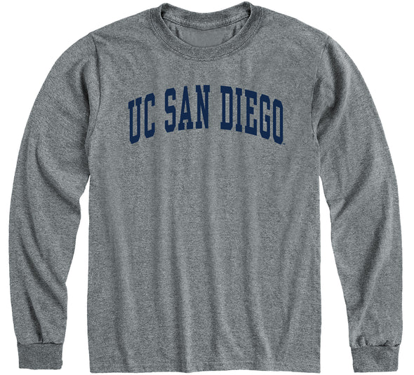 UC San Diego Classic Long Sleeve T-Shirt (Charcoal Grey)
