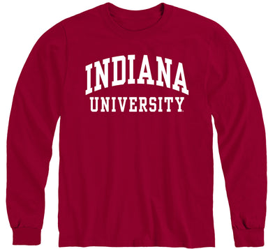 Indiana University Classic Long Sleeve T-Shirt (Cardinal)