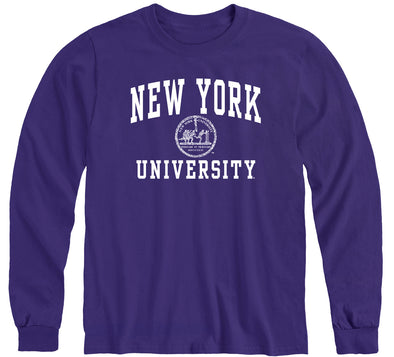 New York University Heritage Long Sleeve T-Shirt (Violet)