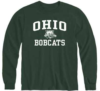 Ohio University Heritage Long Sleeve T-Shirt (Hunter Green)