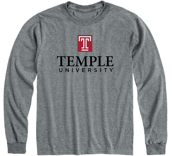 Temple University Heritage Long Sleeve T-Shirt (Charcoal Grey)