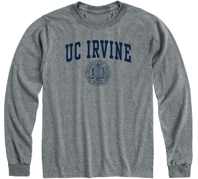 UC Irvine Heritage Long Sleeve T-Shirt (Charcoal Grey)
