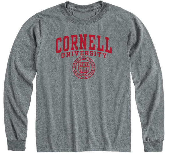 Cornell Heritage Long Sleeve T-Shirt (Charcoal Grey)