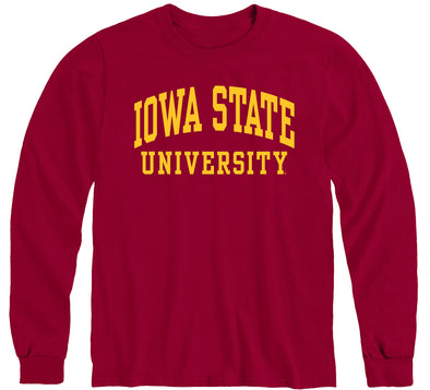Iowa State University Classic Long Sleeve T-Shirt (Cardinal)